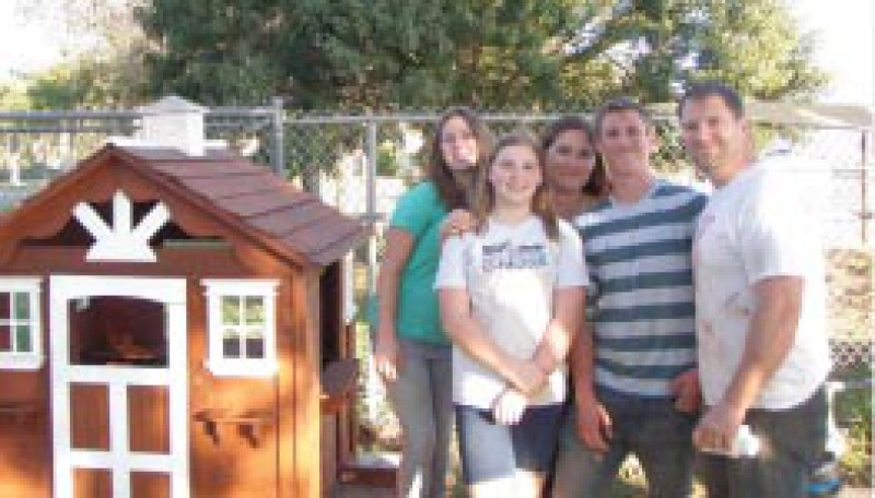 Pleasant Valley Co-op I Wooden Playhouse gets Refinished